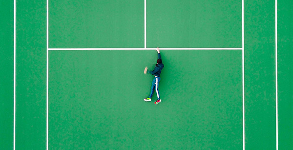 Hanging in tennis