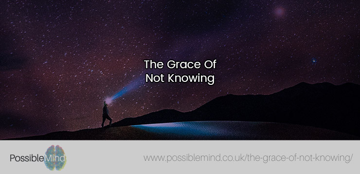 The Grace Of Not Knowing